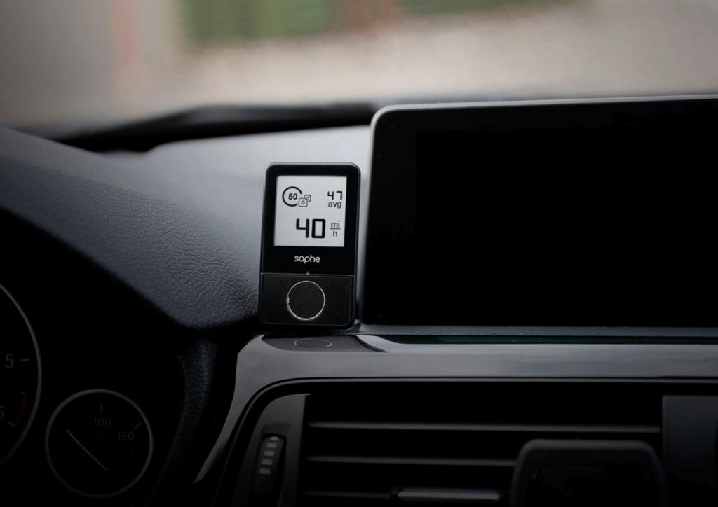 Saphe Drive trafikalarm med strækningskontrol ikon